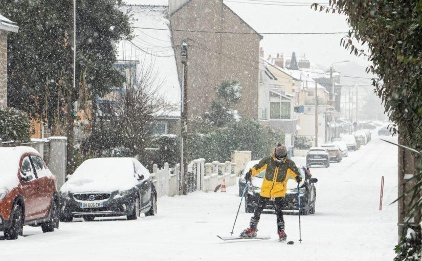 VIDEOS INSOLITES. Neige du 11 février : quand La Baule, Pornichet, Le Croisic, Saint-Nazaire… se transforment en stations de ski !